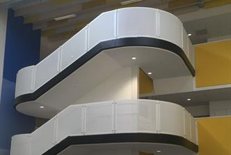 Feature Staircase c/w Perforated Panels